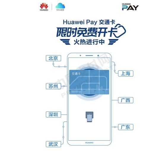 交通卡免费开卡活动火爆七城,关于Huawei Pay你知多少?