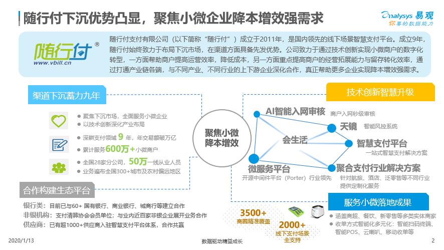 易观报告:成长空间巨大,支付机构加码企业服务市场